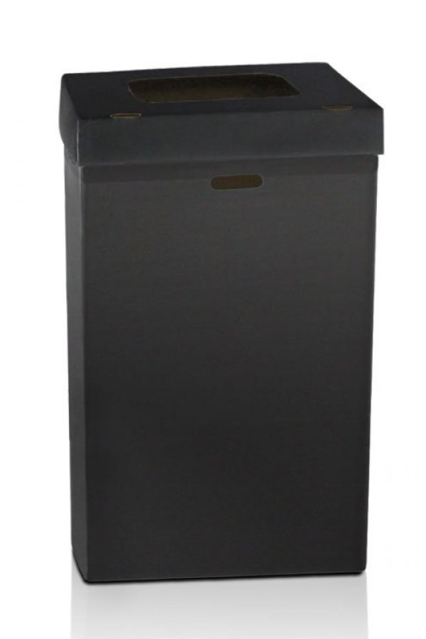 Black Disposable Trash Containers with Multi-Function Lids and 55-gallon Liner Bags
